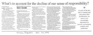 A vs. R article